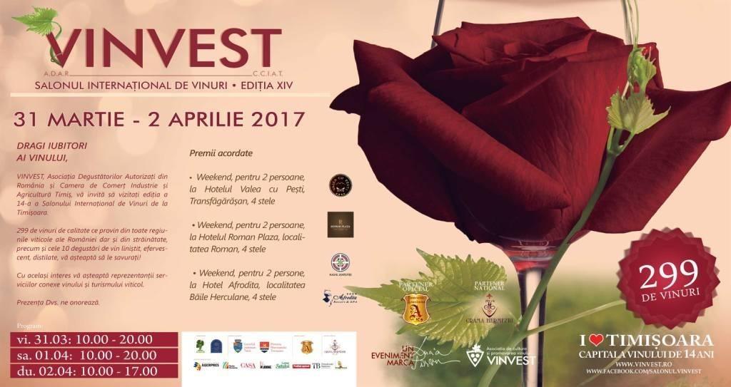 VINVEST își deschide porțile în perioada 31 martie – 2 aprilie 2017